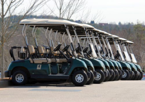 carts parked in a row
